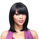 billige Syntetiske parykker uden hætte-Syntetiske parykker Bølget Syntetisk hår Sort Paryk Dame Kort / Medium