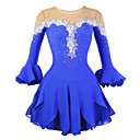 cheap Ice Skating Dresses , Pants & Jackets-Figure Skating Dress Women's Girls' Ice Skating Dress Rhinestone Appliques Lace Flower High Elasticity Performance Practise Skating Wear