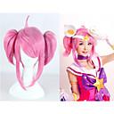 billige Kostumeparyk-Syntetiske parykker / Kostumeparykker Lige Pink Syntetisk hår Pink Paryk Dame Lågløs