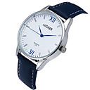 preiswerte Herrenuhren-Herrn Armbanduhr Quartz Armbanduhren für den Alltag Cool / Leder Band Analog Freizeit Schwarz / Blau / Braun - Schwarz Braun Blau