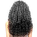 tanie Peruki z włosów ludzkich-Włosy naturalne Siateczka z przodu Peruka Włosy brazylijskie Kinky Curl Peruka 130% Gęstość włosów z Baby Hair Naturalna linia włosów Peruka afroamerykańska W 100% ręcznie wiązane Damskie Długie