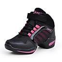 abordables Zapatillas de Mujer-Mujer Zapatos Tejido Primavera / Otoño Confort Zapatillas de deporte Tacón Plano Dedo redondo Con Cordón Negro / Rojo / Dorado