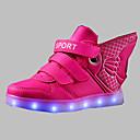 abordables Zapatos de Niño-Chico Zapatos PU Invierno Confort / Zapatos con luz Botas para Fucsia / Azul / Dorado
