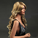 cheap Synthetic Lace Wigs-Synthetic Wig Wavy Blonde Synthetic Hair Blonde Wig Women's Long Capless