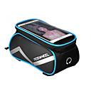cheap Bike Frame Bags-Rosewheel 1.5 L Cell Phone Bag Bike Frame Bag Moistureproof Waterproof Zipper Wearable Bike Bag PU Leather Cloth PVC(PolyVinyl Chloride) Bicycle Bag Cycle Bag Samsung Galaxy S6 / iPhone 5C / iPhone