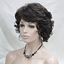 cheap Synthetic Capless Wigs-new wavy curly chestnut brown 6 short synthetic hair full women s wig for everyday