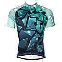baratos Camisas Para Ciclismo-ILPALADINO Homens Manga Curta Camisa para Ciclismo - Azul Geométrico Moto Camisa / Roupas Para Esporte, Secagem Rápida, Resistente Raios