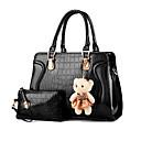 preiswerte Taschensets-Damen Taschen Lackleder Bag Set 2 Stück Geldbörse Set Khaki / Lila / Lavendel / Beutel Sets