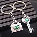 זול מזכרות מחזיקי מפתחות-נושא חוף נושאי גן נושא קלאסי נושא אגדות מצדדים במחזיק מפתחות פלדת על חלד מחזיקי מפתחות - 2pc
