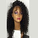 halpa Synteettiset peruukit ilmanmyssyä-Aidot hiukset Lace Front / Liimaton puoliverkko Peruukki Kinky Curly Tiheys Luonnollinen hiusviiva / Afro-amerikkalainen peruukki / 100% käsinsidottu Naisten Lyhyt / Keskikokoinen / Pitkä