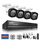 preiswerte CCTV Kameras-sannce® 4ch 720p ahd hdmi DVR 4pcs 720p ir-Nachtsicht Outdoor-Home-Security-System Überwachungs-Kits CCTV-Kamera