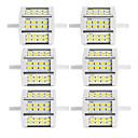billige Bohemske dynetrekk-6pcs 10 W 880 lm R7S Tubelys 24 LED perler SMD 5730 Dual-Head Varm hvit / Kjølig hvit 85-265 V / 6 stk. / RoHs