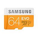 abordables Cartes Mémoire-samsung 64gb micro sd card carte tf carte mémoire uhs-i u1 class10 evo pour smartphone appareil photo tablette