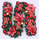 baratos Roupões e Toalhas-navidad de caa de Ratn navidad verde wreathoriginal de navidad guirlanda partido decoracin de ornamento pvc Ratn