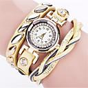 preiswerte Armband-Uhren-Damen Armband-Uhr / Armbanduhr Cool / Punk PU Band Charme / Retro / Freizeit Schwarz / Weiß / Blau