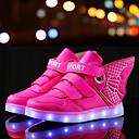 رخيصةأون أحذية الأولاد-صبيان أحذية جلد ربيع مريح / أحذية مضيئة أحذية رياضية دانتيل / LED إلى أبيض / أزرق / زهري