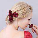 tanie Imprezowe nakrycia głowy-Materiał Czapki / Szpilka do włosów z Kwiaty 1 szt. Ślub / Specjalne okazje Winieta