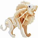 baratos Quebra-Cabeças 3D-Quebra-Cabeças de Madeira Leão Nível Profissional De madeira 1 pcs Crianças Para Meninos Dom