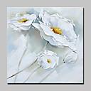 olcso Virág festmények-Hang festett olajfestmény Kézzel festett - Csendélet Virágos / Botanikus Modern Vászon