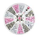 abordables Decoraciones y Diamantes Sintéticos para Manicura-1pcs Nail Art Decoración Las perlas de diamantes de imitación maquillaje cosmético Nail Art