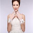 preiswerte Handschuhe für die Party-Spitze / Baumwolle / Nylon Handgelenk-Länge Handschuh Charme / Stilvoll / Brauthandschuhe Mit Stickerei / Einfarbig