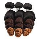 tanie Dopinki ombre-3 zestawy Włosy brazylijskie Luźne fale Włosy naturalne Ombre Ludzkie włosy wyplata Ludzkich włosów rozszerzeniach