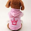 preiswerte Hundekleidung-Katze Hund Kapuzenshirts Hundekleidung Tiaras & Kronen Rosa Baumwolle Kostüm Für Haustiere Damen Modisch