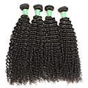 tanie Dopinki w naturalnych kolorach-Włosy virgin Kosmyki włosów ludzkich remy Curly / Klasyczny Włosy brazylijskie 400 g 1 rok Codzienny