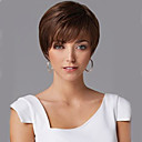 cheap Synthetic Wigs-Synthetic Wig Wavy With Bangs Synthetic Hair With Bangs Brown Wig Women's Short