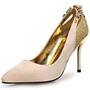 preiswerte Modische Ohrringe-Damen Schuhe Leder / Glanz / Mikrofaser Neuheit High Heels Stöckelabsatz Spitze Zehe Kristall / Perlenstickerei / Glitter Gold / Schwarz