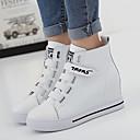 ieftine Adidași de Damă-Pentru femei Pantofi Nappa Leather Toamnă / Iarnă Confortabili Adidași Plimbare Toc Platformă Vârf rotund Bandă Magică Alb / Negru
