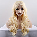 cheap Christmas Party Supplies-Synthetic Wig Natural Wave Blonde Synthetic Hair Blonde Wig Women's Long / Very Long Capless Light Blonde