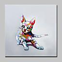 tanie Obrazy: motyw zwierzęcy-Hang-Malowane obraz olejny Ręcznie malowane - Pop art Nowoczesny Naciągnięte płótka