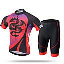 tanie Zestawy koszulek i spodni rowerowych-XINTOWN Męskie Krótki rękaw Koszulka z szortami na rower - Czerwony Rower Szorty / Spodnie / Dżersej, Wkładka 3D, Szybkie wysychanie, Odporność na promieniowanie UV, Oddychający, Odblaskowe paski
