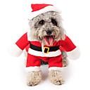 billige Hundeleker-Kat / Hund Kostume / Kjeledresser / Jul Hundeklær Tegneserie Rød Polar Fleece Kostume For kjæledyr Herre / Dame Cosplay / Jul