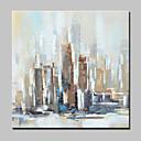 povoljno Apstraktno slikarstvo-Hang oslikana uljanim bojama Ručno oslikana - Sažetak Apstraktni pejsaži Moderna Uključi Unutarnji okvir