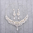 cheap Jewelry Sets-Women's Imitation Pearl / Rhinestone Jewelry Set - Include Silver For Wedding