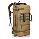 hesapli Güvenlik Aksesuarları-60 L Seyahat Duffel / Arka Çantaları / sırt çantası - Su Geçirmez, Giyilebilir Açık hava Kamp & Yürüyüş, Tırmanma Naylon Haki, Üç Kum Rengi, kamuflaj Brown
