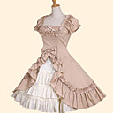 cheap Lolita Dresses-Sweet Lolita Dress Princess Women's Skirt Cosplay Green Pink Short Sleeve Short Sleeves Medium Length