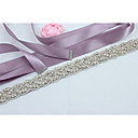 cheap Party Sashes-Satin Wedding Party / Evening Sash With Rhinestone Beading Women's Sashes
