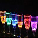 abordables Pelucas Sintéticas con Agarre-Champagne vidrio luminiscencia vidrio 6.8 * 18cm color aleatorio