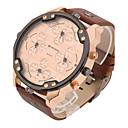 cheap Watch Accessories-Men's Quartz Wrist Watch Military Watch Sport Watch Calendar / date / day Punk Dual Time Zones Leather Band Vintage Casual Dress Watch