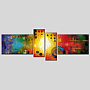 cheap Rolled Canvas Prints-Print Stretched Canvas - Abstract Classic / Modern Four Panels