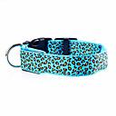 お買い得  犬用カラー/リード/ハーネス-ネコ / 犬 カラー LEDライト / 調整可能 / 引き込み式 / 充電式 レオパード ナイロン レッド / グリーン / ブルー