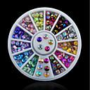 abordables Decoraciones y Diamantes Sintéticos para Manicura-1 pcs Joyas de Uñas Brillantes arte de uñas Manicura pedicura Diario Moda / Joyería de uñas