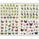 billige Hule negleklistremerker-24 pcs 3D Negle Stickers Neglekunst Manikyr pedikyr Mote Daglig / 3D Nail Stickers