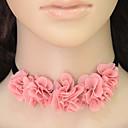 halpa Chocker-kaulakorut-Naisten Choker-kaulakorut - Flower Eurooppalainen, Muoti Pinkki Kaulakorut Käyttötarkoitus Kausaliteetti