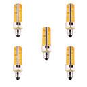 رخيصةأون أضواء LED ثنائي الدبوس-YWXLIGHT® 5pcs 7 W 500-700 lm E11 أضواء LED ذرة T 80 الخرز LED SMD 5730 تخفيت / ديكور أبيض دافئ / أبيض كول 110-220 V / 5 قطع / بنفايات