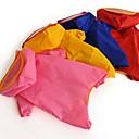 billige Hundeklær-Kat Hund Regnfrakk Hundeklær Ensfarget Tilfældig Farve Terylene Kostume For kjæledyr Herre Dame Vandtæt