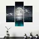 お買い得  プリント-風景 近代の,3枚 キャンバス 任意の形状 プリント 壁の装飾 For ホームデコレーション